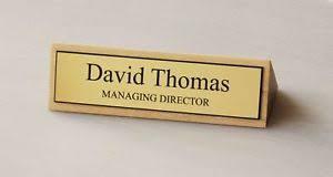 plaque bureau executive wood desk name plate personalised engraved plaque ebay