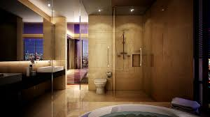 Large Master Bathroom Floor Plans by Bathroom Master Bath In Luxury Home With Windowed Shower Stock