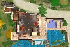 Falling Water Floor Plan Pdf Mod The Sims Frank Lloyd Wright U0027s