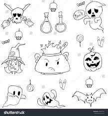 hand draw halloween doodle vector art stock vector 445207792