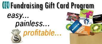 gift card fundraiser cpo gift card progam