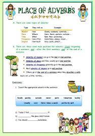 of adverbs worksheet