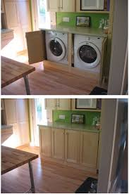 Laundry Room In Kitchen Ideas Great Way To Hide Your Washer And Dryer If You Don U0027t Have A Lot Of