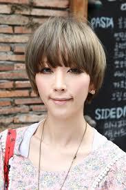 Mushroom Hairstyle Beautiful Bowl Cut With Retro Fringe Short Japanese Hairstyle