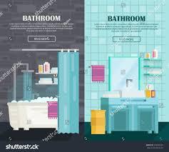 a set bathroom interior icons bathroom stock vector 542702554