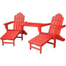 Patio Chair With Ottoman by Red Adirondack Chairs Patio Chairs The Home Depot