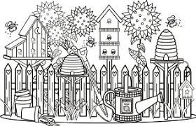 kids flower gardens coloring page free coloring pages online