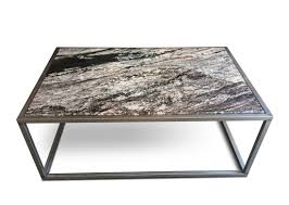 furniture grey granite top coffee table with grey metal frame and