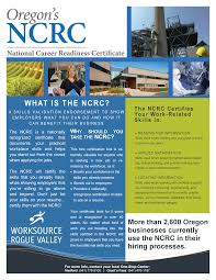 Ou Career Center National Career Readiness Certificate U2013 Worksource Rogue Valley