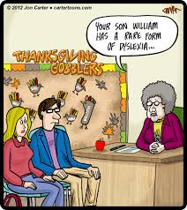 thanksgiving dyslexia by cartertoons media culture