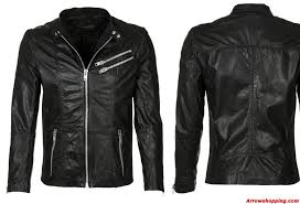 mens leather biker jacket arrow black mens leather jacket motorcycle slim fit biker jacket