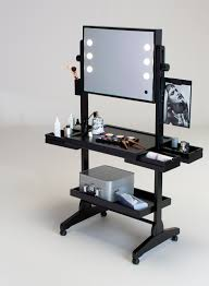 portable makeup vanity with lights postazione trucco mobile su ruote illuminata full mirror vanity