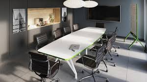 White Gloss Meeting Table Conference Tables And Training Table U2014 Scale 1 1