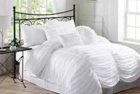 bedding set shabby chic ruffle bedding quiescent king size