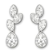 earrings uk swarovski tranquility clear drop earrings 1179730
