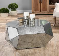 silver mirrored coffee table silver rectangle antique mirrored coffee tables designs as living