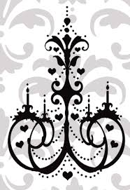 Chandelier Wall Stickers Pretty Heart Chandelier Vinyl Decal On Luulla