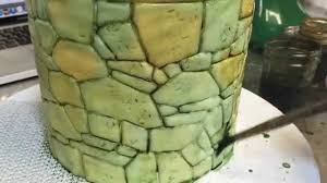 realistic stone painting with fondant and food coloring youtube