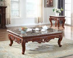 marble top cocktail table bordeaux 205 coffee table in cherry w marble top optional end
