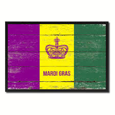 Home Decor New Orleans New Orleans Mardis Gras Vintage Flag Home Decor Office Wall Art