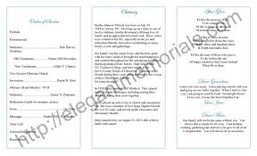 Funeral Service Announcement Wording Funeral Program Example Sample Funeral Programs