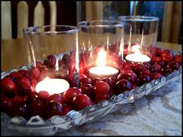 manyhoops cranberries and candles