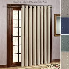 Patio Door Thermal Blackout Curtain Panel Thermal Drapes For Sliding Glass Doors Door Curtain Rod Eclipse