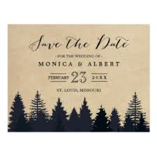 rustic save the dates save the date postcards zazzle