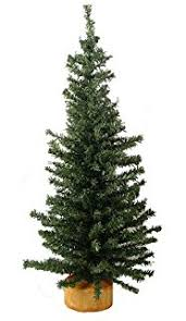 darice artificial pine tree on wood base 24