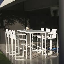 Patio Bar Height Table And Chairs by Outdoor Patio Bar Height Table Tables Counter Modern