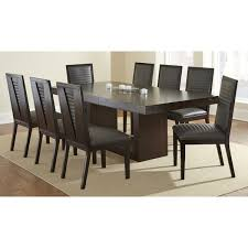 espresso dining table with leaf greyson living amia espresso dining set with alexa chairs amia 9pc