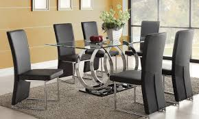 agreeable glass dining room sets with home design furniture