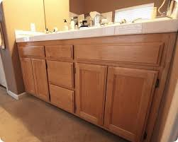 what are builder grade cabinets made of turn your builder s grade oak vanity into a thing of beauty curbly
