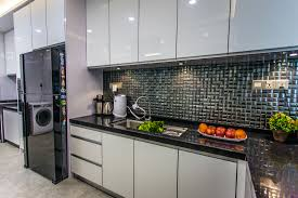 Shiny White Kitchen Cabinets by Habitat My