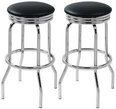 pair of retro chrome bar stools in black bar stools simply bar
