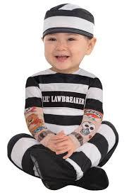 inmate halloween costume christys dress up infants little law breaker prisoner babies fancy