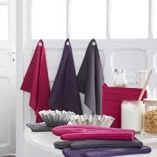 linge de cuisine ensemble gant et manique violet les douces nuits de maé linge