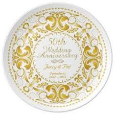 50th wedding anniversary plate personalized bone china commemorative plate for a 50th wedding