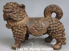 choo foo dogs furniture set of 2 handmade sitting 9 inch foo dog