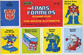 the transformers the transformers stamp fun featuring the brave autobots 1984 2