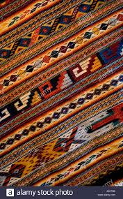 mexico oaxaca detail of hand woven rug using zapotec indian design