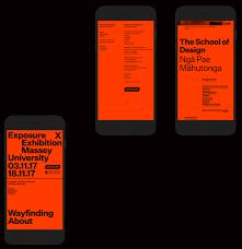visual communication design massey exposure exhibition on behance