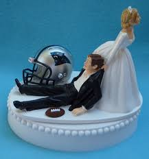 football cake toppers carolina panthers football themed wedding cake topper garter
