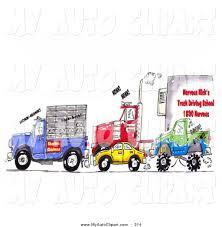 monster trucks clipart clip art of a traffic jam of animal transport trucks big rigs