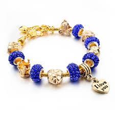 diy bracelet pandora beads images Longway crystal beads bracelets for women friendship love charm jpg