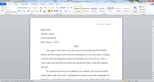 Microsoft Word Mla Template mla word template pertamini co