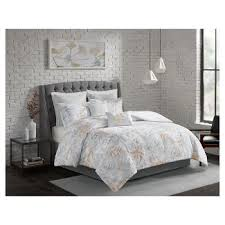 gray ruched comforter set target