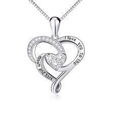 pink star diamond necklace girls jewelry amazon com