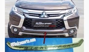 All New Pajero Sport List Kap Mobil Depan Molding Chrome list bumper depan all new pajero sport 2016