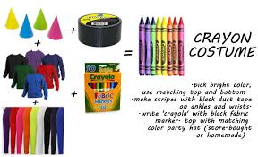 crayon halloween costume pattern what to buy relatives for christmas